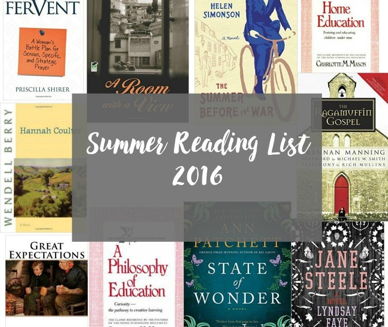My Summer Reading List 2016